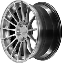 BC Racing Wheels HB 15 Bright Silver