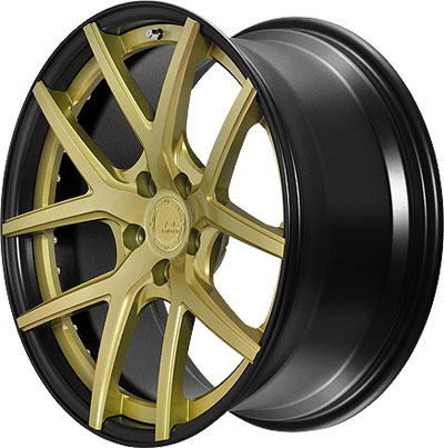 BC Racing Wheels HB-S 02 Matte Black Drum Gold Face