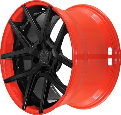 BC Racing Wheels HB-S 02 Orange Drum Matte Black Face