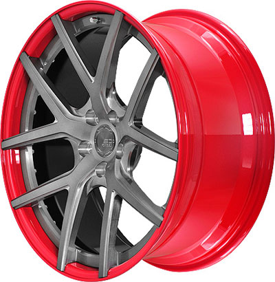 BC Racing Wheels HB-S 02 Red Drum Brushed Black Face