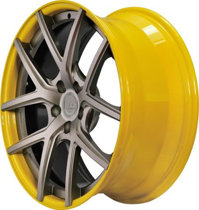 BC Racing Wheels HB-S 02 Yellow Drum Matte Bronze Face