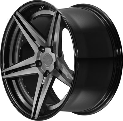 BC Racing Wheels HC 52 Gloss Black Drum Gunmetal Face