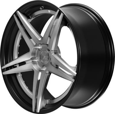 BC Racing Wheels HC 52 Matte Black Drum Brushed Black Face