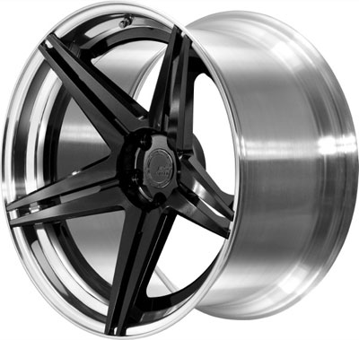 BC Racing Wheels HC 52 Unpainted Drum Gloss Black Face