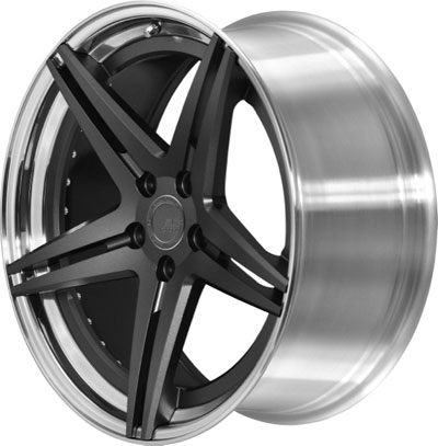 BC Racing Wheels HC 52 Unpainted Drum Matte Gunmetal Face