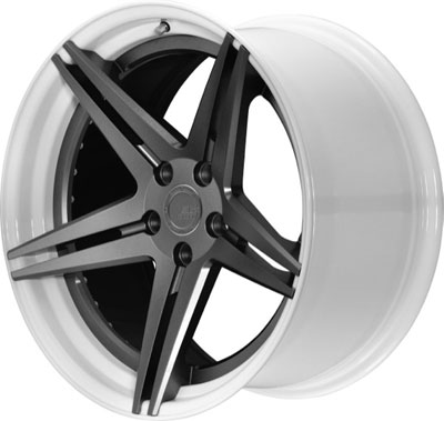 BC Racing Wheels HC 52 White Drum Matte Gunmetal Face