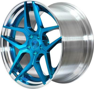 BC Racing Wheels HC 53 Sapphire Blue Face Unpainted Drum