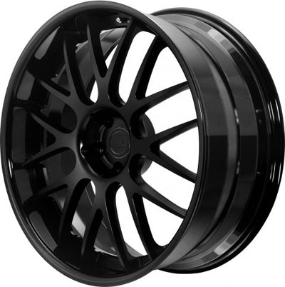 BC Racing Wheels SR 04 Gloss Black Drum Matte Black Face