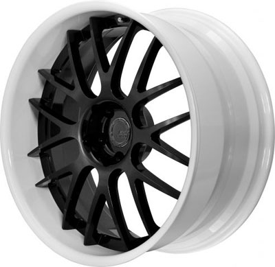 BC Racing Wheels SR 04 White Drum Gloss Black Face