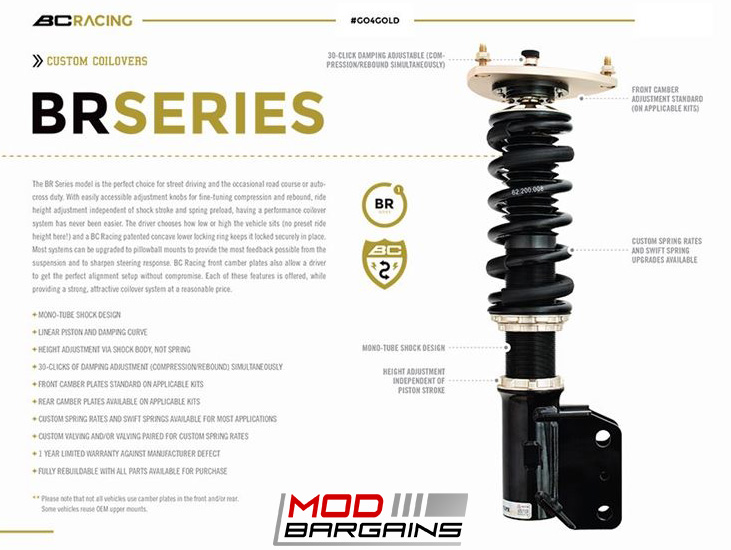 *BC Racing BR Series Coilovers for 2014-2016 BMW 2-Series [F22] I-46-BR