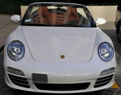 No Holes Porsche License Plate Holder