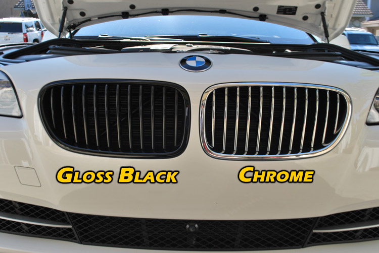 Grill Choices Chrome Matte Black Gloss Black Painted