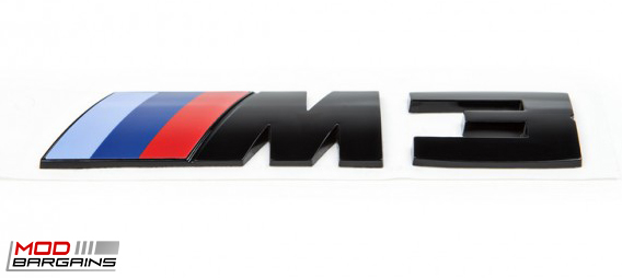 Gloss Black Competition Package Trunk Emblem for 2014+ BMW M3 F80