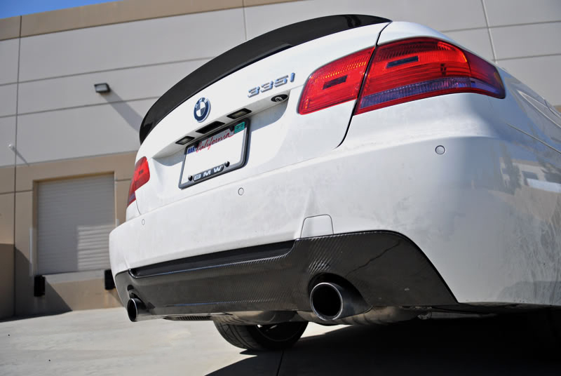 bmw e92 335i carbon fiber rear diffuser