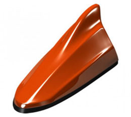 Beat Sonic Shark Fin Antenna Hot Lava