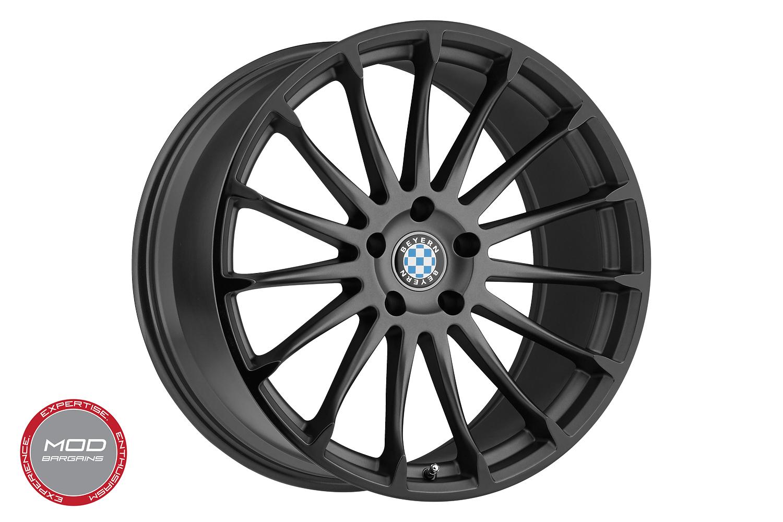 Beyern Aviatic Matte Gunmetal w/ Gloss Black Lip Wheel