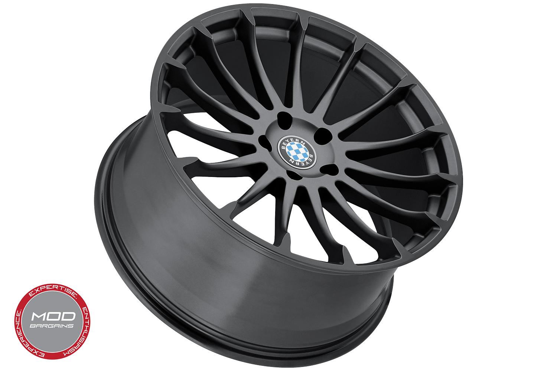 Beyern Aviatic Matte Gunmetal w/ Gloss Black Lip Wheel Face View