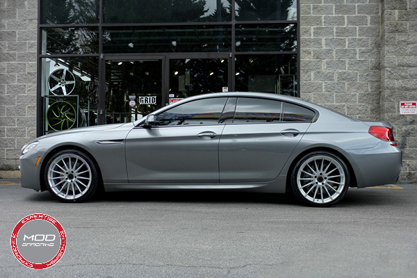 Beyern Aviatic 20 Inch Silver w/ Mirror Cut Face Wheels on BMW 6 Series Gran Coupe Full View