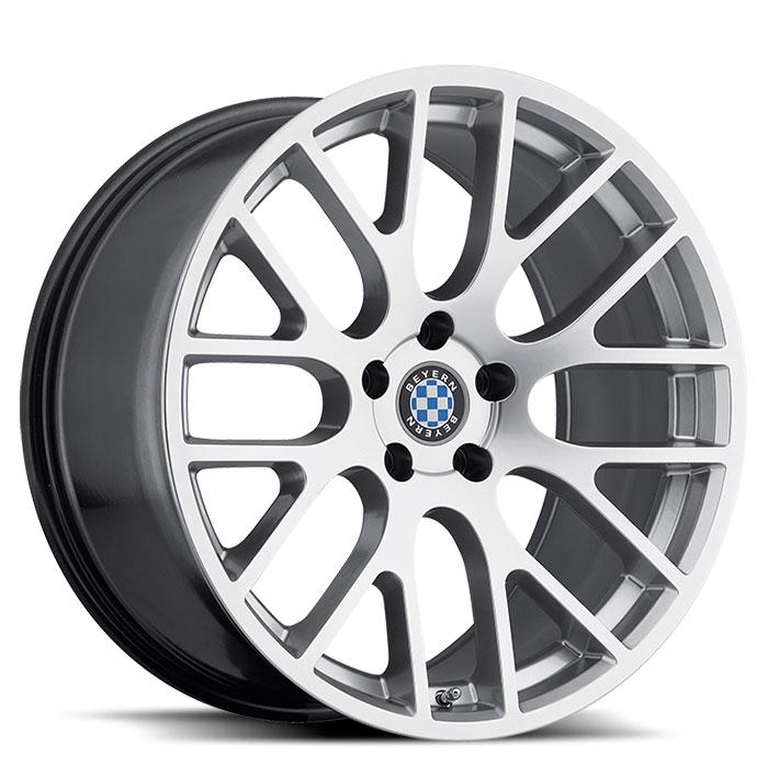 Beyern Wheels Spartan Silver Front
