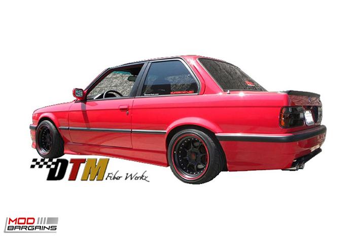 DTM Fiber Werkz E36 M3-Style Rear Bumper for 1984-91 BMW 3-Series [E30] (FRP), Side Skirts, REAR bumper, modbargains.com