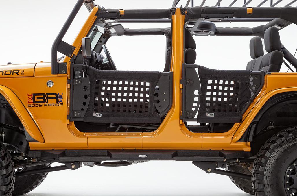 Body Armor 4x4 Rear Trail Door 07-16 Jeep Wrangler JK