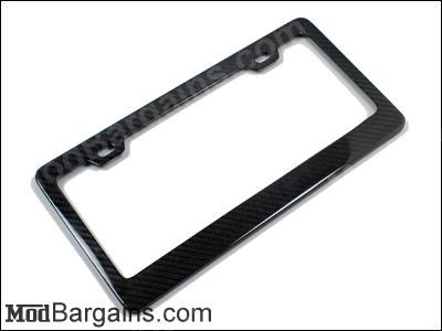 Carbon Fiber License Plate Frame Sold at ModBargains.com