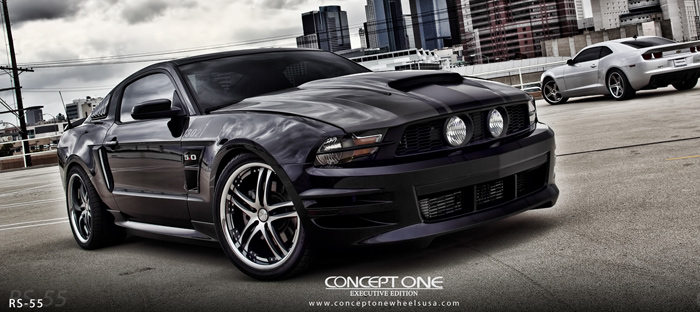Concept One Wheels RS-55 on Ford Mustang