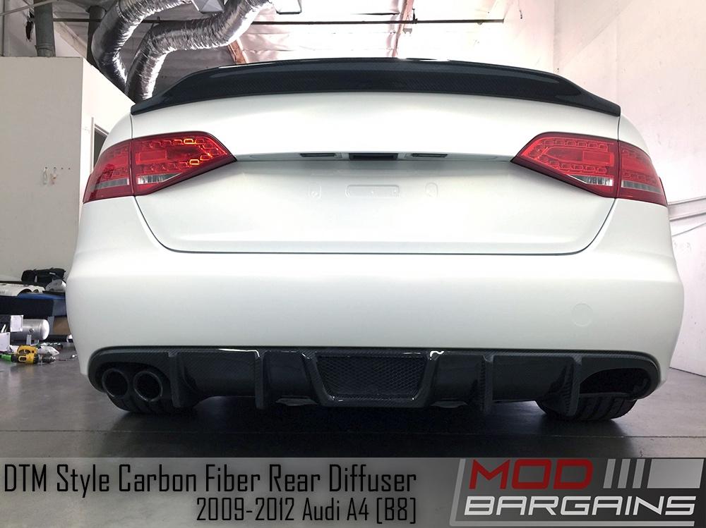 carbon fiber rear diffuser for 2009 2012 audi a4 b8 dtm. Black Bedroom Furniture Sets. Home Design Ideas