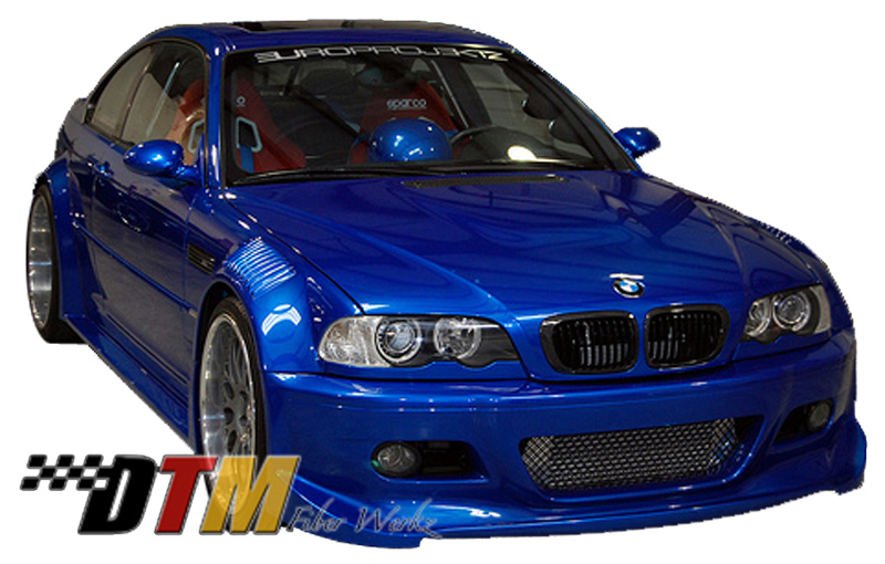 gtr race style bmw 3 e46 widebody kit. Black Bedroom Furniture Sets. Home Design Ideas