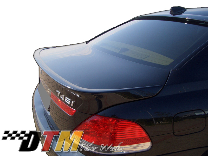 DTM Fiber Werkz BMW E65/E66 7-Series ACS Style Rear Spoiler View 1