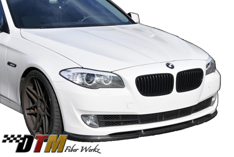 DTM Fiber Werkz BMW F10 2011-up HM Style Front Lip View 1
