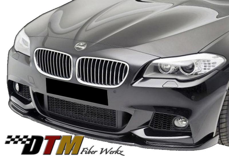 DTM Fiber Werkz BMW F10 2011+ Mtech Front Bumper HM Style Lip View 1