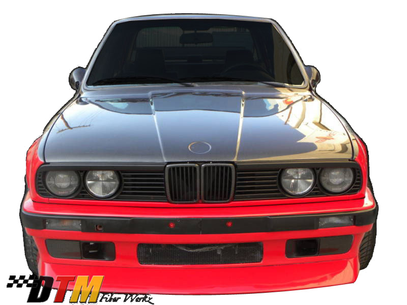 DTM Fiber Werkz BMW E30 Front Lip For '88 Evo Models Mounted