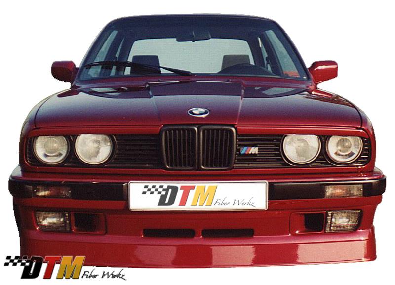 DTM Fiber Werkz BMW E30 AP Style USDM Front Bumper Apron View 1