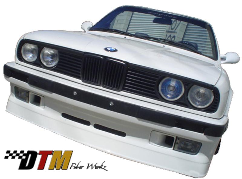 DTM Fiber Werkz BMW E30 AP Style USDM Front Bumper Apron View 3