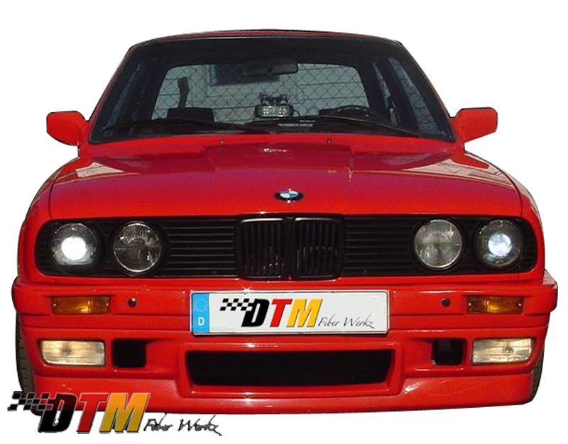 DTM Fiber Werkz BMW E30 BRYTN Front Bumper Mounted View 1
