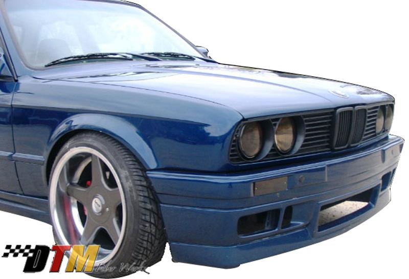 DTM Fiber Werkz BMW E30 BRYTN Front Bumper Mounted View 3