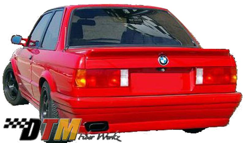 DTM Fiber Werkz BMW E30 BRYTN style Rear Bumper mounted