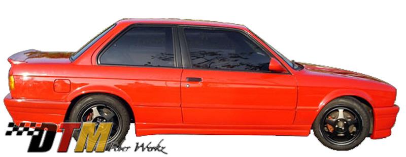 DTM Fiber Werkz BMW E30 2-Door BRYTN Style Side Skirts View 3