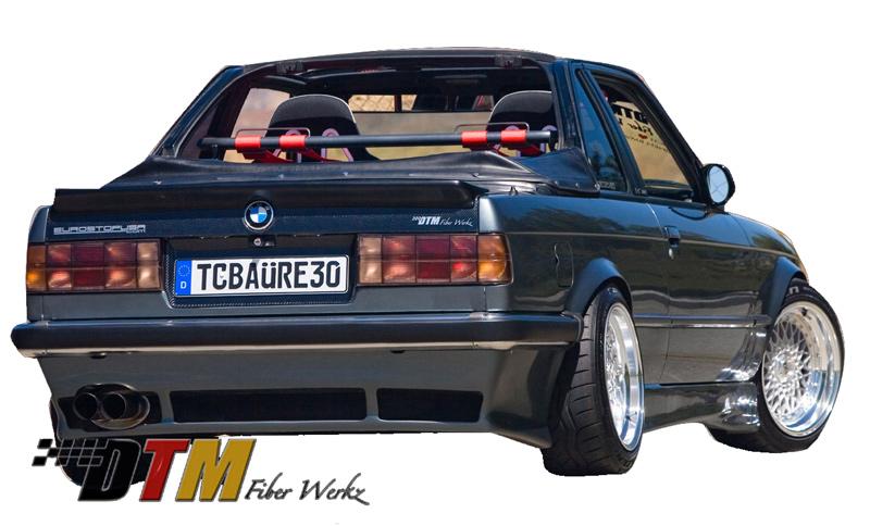 DTM Fiber Werkz BMW E30 DTM Style Rear Apron 3