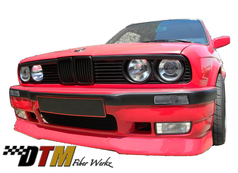 DTM Fiber Werkz BMW E30 Bumper Conversion Turn Signals Mounted 3