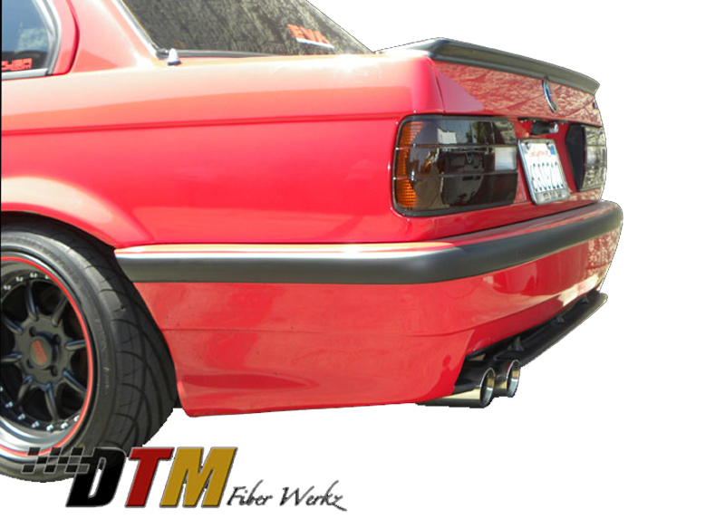 DTM Fiber Werkz E30 E36 M3 Style Rear Bumper Mounted 2