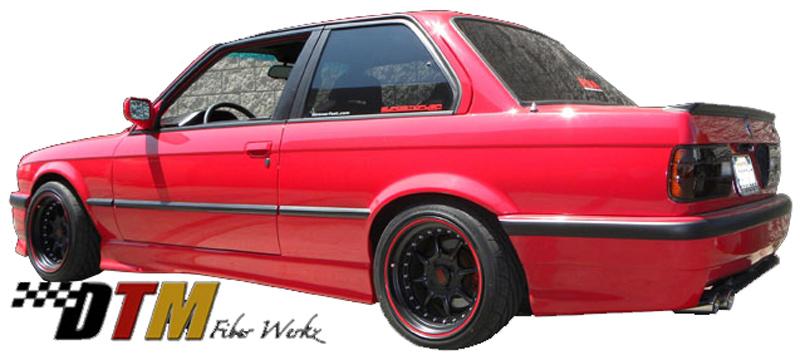 DTM Fiber Werkz E30 E36 M3 Style Rear Bumper Mounted 3