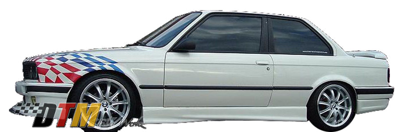 DTM Fiber Werkz BMW E30 E36 M3-Style Side Skirts View 1