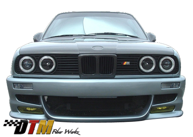 DTM Fiber Werkz BMW E30 Bumper Conversion Turn Signals Mounted 2