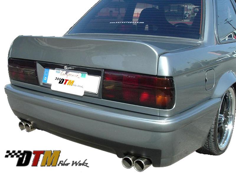 DTM Fiber Werkz BMW E30 E46 CSL Style Rear Bumper 1