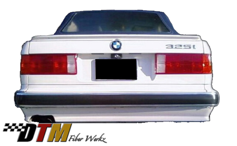 DTM Fiber Werkz BMW E30 ES Rear Bumper Apron Mounted View 2