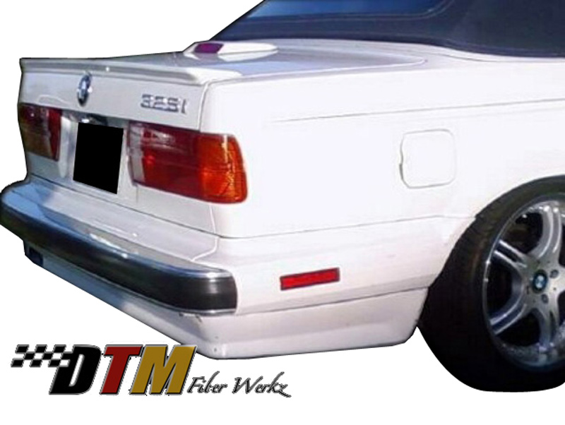 DTM Fiber Werkz BMW E30 ES Rear Bumper Apron Mounted View 1