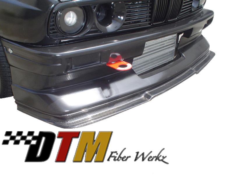 DTM Fiber Werkz BMW E30 EVO R Front Lip View 1