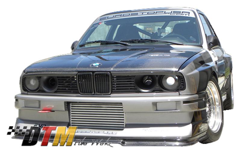 DTM Fiber Werkz BMW E30 EVO R Front Lip View 2